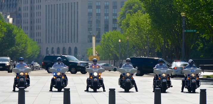 motor bikes lined up